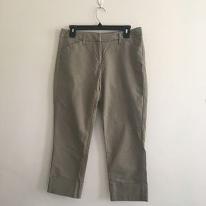 New York & Company Capri Cargo Pant in khaki